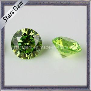 Semi-Precious Apple Green Cubic Zirconia Stone pictures & photos