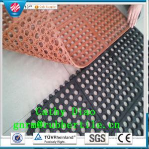 Interlocking Rubber Mat, Workshop Mat, Anti-Fatigue Rubber Mat Drainage Rubber Mat pictures & photos