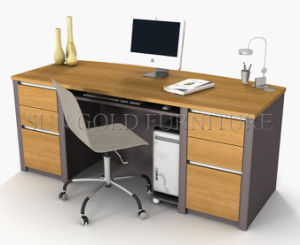 Modern Office Furniture, Wooden Office Desk, Melamined Office Desk (SZ-OD135) pictures & photos