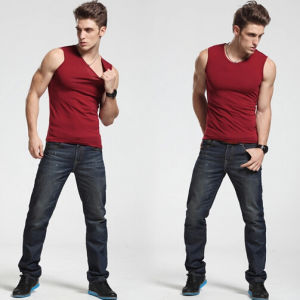 Slim Fit Sleeveless T-Shirt / Cheap Promotional Sleeveless T-Shirt pictures & photos