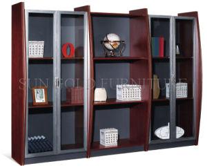 New Design Modern Glass Door Filing Cabinet, Bookshelf (SZ-FC013) pictures & photos