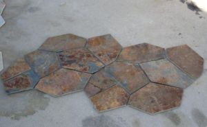 Natural Rusty Slate Flooring Tiles with Mesh for Paving pictures & photos