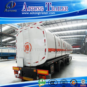 Tri-Axle 40cbm Fuel Tanker/Oil Diesel Transport Truck Semi Tank Trailer for Sale pictures & photos