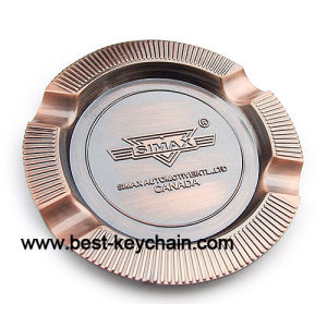 Souvenir Custom Round Metal Brass Plated Promotion Ashtray (BS11054) pictures & photos
