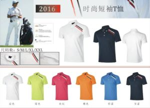 Dry Fit Golf T-Shirt Short Sleeve UVA Protection Cooling Touch Summer Sports Shirts pictures & photos