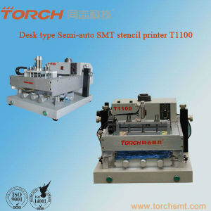 Sem-Automatic Desktop Stencil Printer / SMT Desktop Screen Printe T1100 pictures & photos