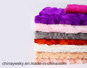 Plush Fabric for Quilt PV Fleece pictures & photos
