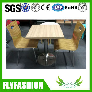 Coffee Shop Furniture Wooden Table and Chairs (DT-20) pictures & photos