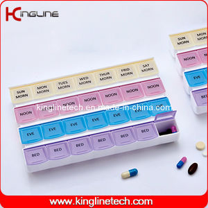 Plastic Pill Box with 28-Cases (KL-9047) pictures & photos