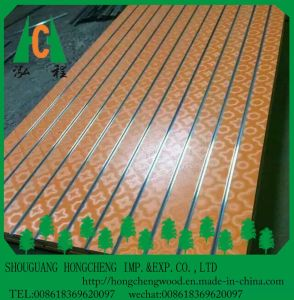 Melamine Slot MDF Board/ T Slot MDF with Aluminum pictures & photos