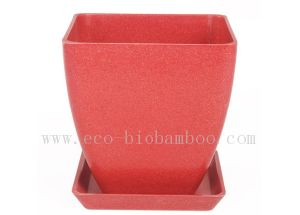 Biodegradable Natural Bamboo Fiber Flower Pot (BC-F1007) pictures & photos