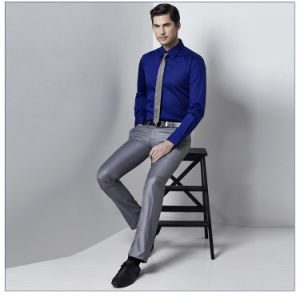 Custom Slim Fit Fashion European Latest Shirt Designs for Men pictures & photos