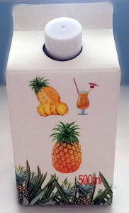 500ml Fresh Juice Gable Top Paper Box pictures & photos