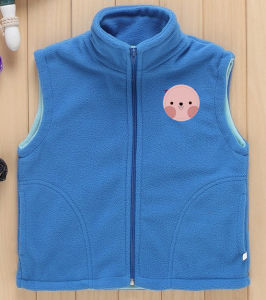 Cheap Price Custom Logo Polar Fleece Children Waistcoat pictures & photos