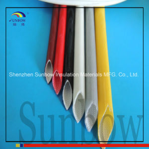 4.0kv Silicone Rubber Coated Glassfiber Sleeving Silicone Fiberglass Sleeves pictures & photos