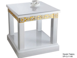 Oppein Classic Small White Square Tea Coffee Table (CJ11166) pictures & photos