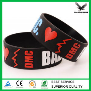 Cheap Custom Debossed/Embssed/Print Silicone Wristband pictures & photos