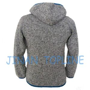Children Full Zipper Hoody Fleece Large Pocket Jacket pictures & photos