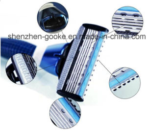 5 Blades Shaving Razor with Trimmer and Alloy Handle