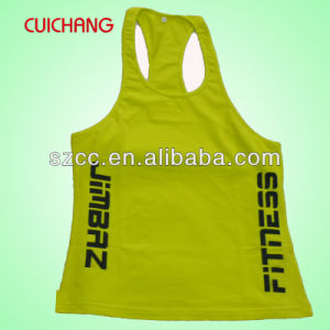 Singelt, Tank Top, Wholesale Wholesale 100% Cotton Silk Screen Printing Custom Design Gym Singlets Bx-045 pictures & photos
