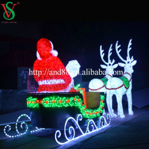 Outdoor Motif Acrylic Reindeer Sleigh Light pictures & photos