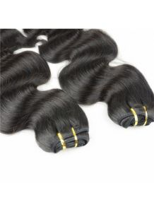 Body Wave Virgin Human Hair Bundles Top Quality Natural Color Black Hair Weft pictures & photos
