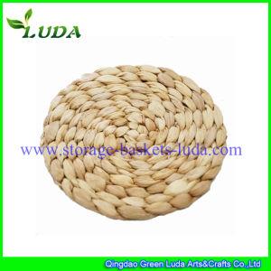 Luda Round Cornhusk Braided Straw Placemat