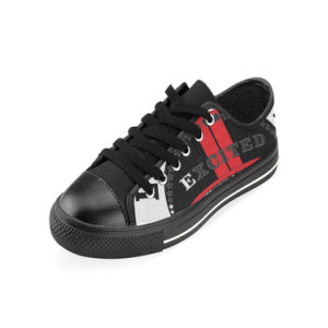 Style No Custom Sneaker 030 Low Cut Print Unisex Canvas Casual Shoes Custom Canvas Sneakers pictures & photos