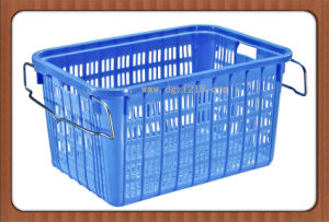 Eco-Friendly Nestable Plastic Storage Basket with Handle pictures & photos