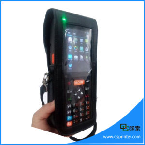 Touch Screen Industrial Android PDA Wireless Portable Barcode Scanner with Printer pictures & photos