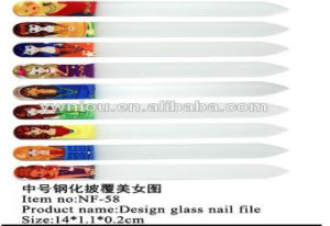 No Electric Power Crystal Tempered Glass Nail File