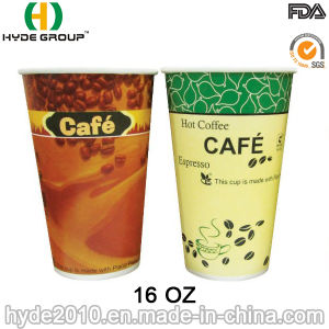 16oz Single Wall Disposable Paper Coffee Cup with Own Design pictures & photos