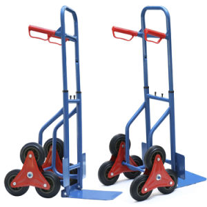 Folding Style Stair Climbing Six Wheel Hand Trolley pictures & photos