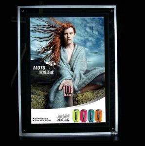 Acrylic Advertising LED Slim Light Box with Magnetic Open pictures & photos