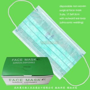 Disposable Nonwoven Operation Face Mask with 3ply pictures & photos