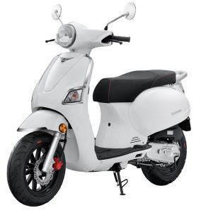 EEC Euro 4 50cc Gas Scooter Retro Motorcycle (HD50QT-22)