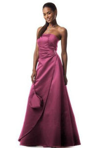Ladies Elegant Purple Strapless Maxi Evening Dresses pictures & photos