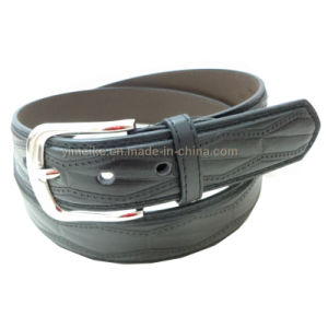 Hot Selling Men′s Style Embossed Pattern PU Leather Pin Buckle Belt OEM pictures & photos