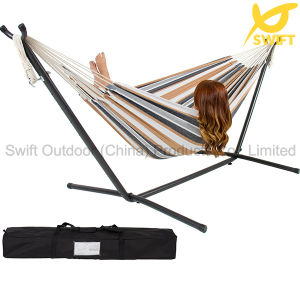 Double Person Fringe Outdoor Swing Hammock pictures & photos