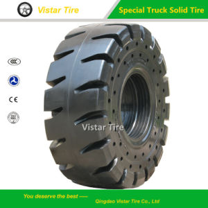 Special Truck Solid Tyre (10.00-20, 385/65-24, 14.00-20, 20.5/25) pictures & photos