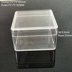 Square Clear Plastic Box pictures & photos