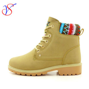 2016 New Style Injection Women Work Boots Shoes for Job (SVWK-1609-017 TAN)