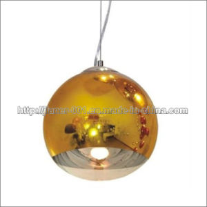 Popular Gold Glass Hanging Lighting Lamp with LED Bulb/Pendant Lamp pictures & photos