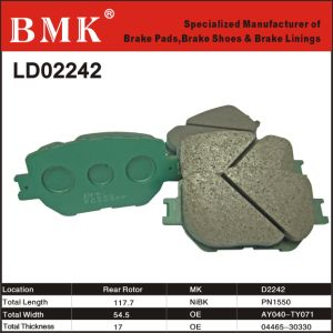 High Quality Ceramic Brake Pads (D2242) for Toyota pictures & photos