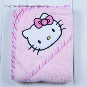 Competitive Cotton Baby Hooded Bath Blanket Bath Towel pictures & photos