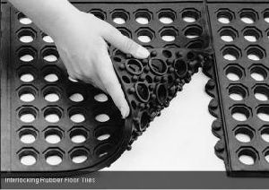 Anti Slip Interlocking Durable Rubber Door Mat/ Oil Resistance Rubber Mat pictures & photos