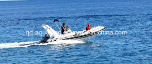 Aqualand 21feet 6.5m Rigid Inflatable Motor Boat/Rib Fishing Boat (rib650c) pictures & photos
