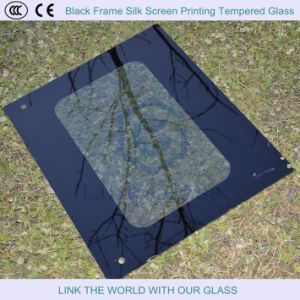 6-10mm Black Frame Silk Screen Printing Tempered Glass, Glass Shelves pictures & photos