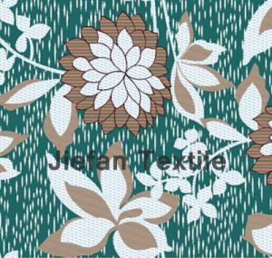 Lotuses Design Polyester Fabric