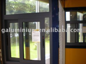 Powdercoat Thermal Breakl Aluminium Sliding Glass Door pictures & photos